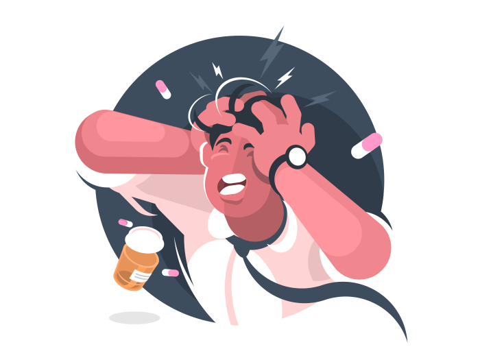 A Headache is pain or sensation in the region of the head, behind eyes or in the upper neck.