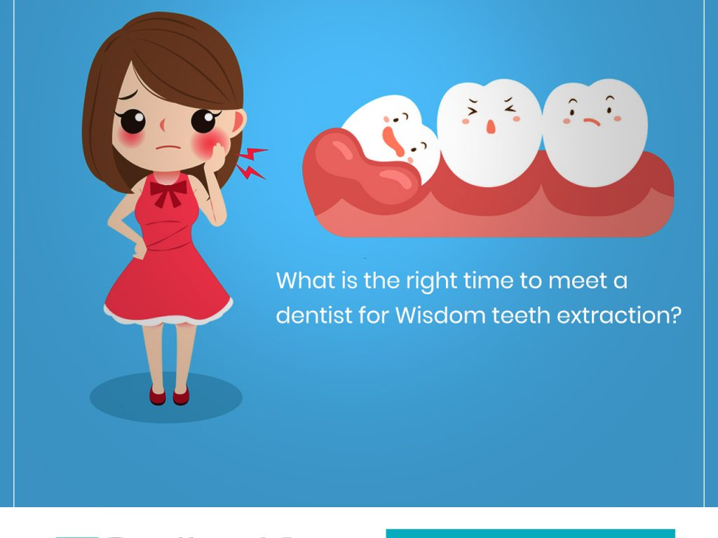 What is the right time to meet a dentist for Wisdom teeth extraction? Learn more….