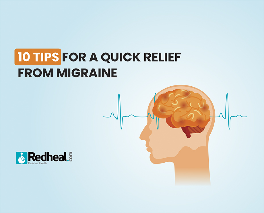 10 tips for quick relief from Migraine
