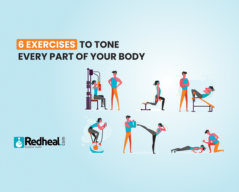 6 Exercises to tone every part of your body